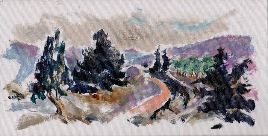 איריסיה קובליו, אקריליק על קנווס,  ינואר, 2013