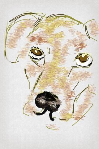 Iris Kovalio, Iphone digital drawing, 2013