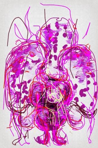 Iris Kovalio, Digital Iphone drawing, 2013