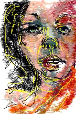 Iris Kovalio, Digital  Iphone painting, 2013