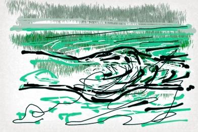 איריסיה קובליו, ציור דיגיטאלי באייפון, 2013
