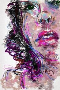 איריסיה קובליו, פורטרט צמי, ציור דיגיטאלי באייפון, אוקטובר 2013