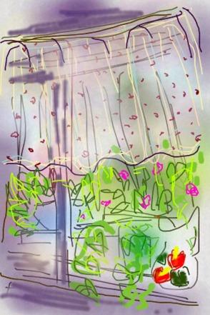 איריסיה קובליו, חלון, ציור  דיגיטאלי באייפון, 2013
