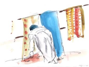 איריס קובליו, צבעי מים, הודו, 2007