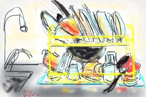 איריסיה קובליו, ציור אייפון, 31.12.13