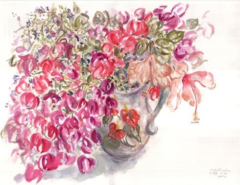 איריסיה קובליו, צבעי מים, 50x70 cm