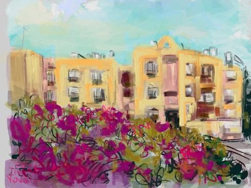 איריסיה קובליו, מרחב הגנה 3, ציור אייפד 2014