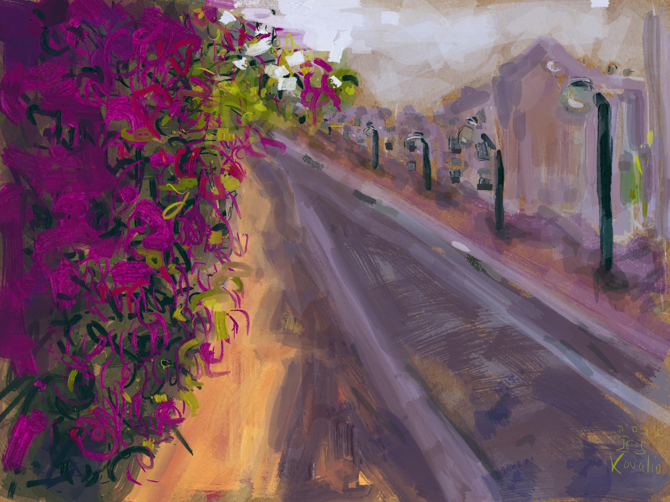 איריסיה קובליו, מרחב הגנה 7, ציור אייפד, יולי 2014