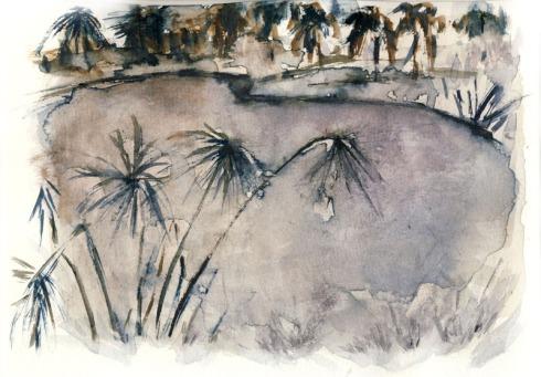 """איריסיה קובליו, """"האגם"""" אקוורל, 2012"""