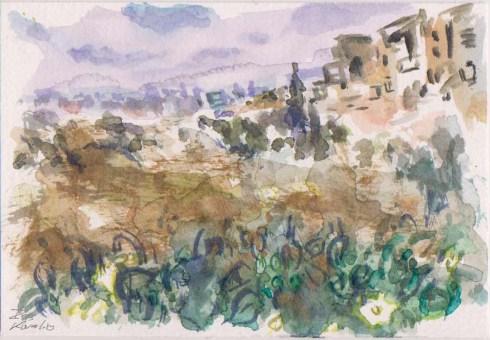 איריסיה קובליו, אקוורל, 10.5x15.5 cm אוגוסט 2014