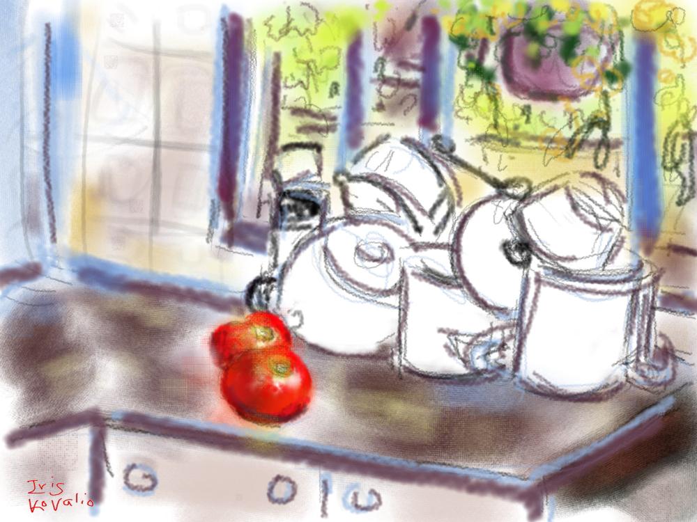 במטבח 1, צייר אייפד
