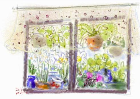 איריס קובליו, חלון המטבח, ציור אייפד