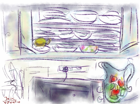 איריס קובליו, בקר במטבח 5, ציור אייפד