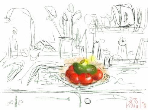 איריס קובליו, במטבח 4, ציור אייפד