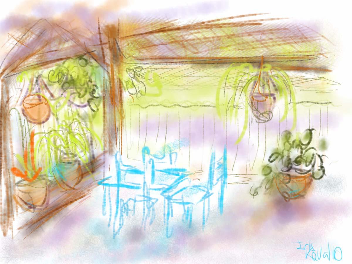 איריס קובליו, אצלי בחצר 2, ציור אייפד