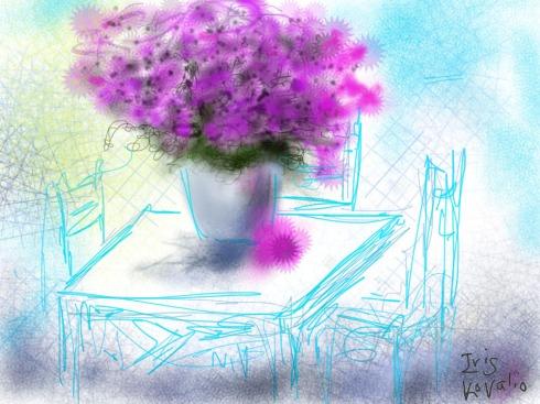 איריס קובליו, אצלי בחצר 3, ציור אייפד