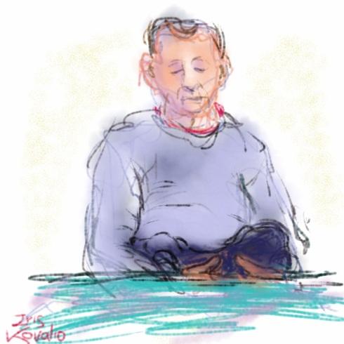 איריס קובליו, גרא וסקאי ישנים יחד, ציור אייפד, מרץ 2014