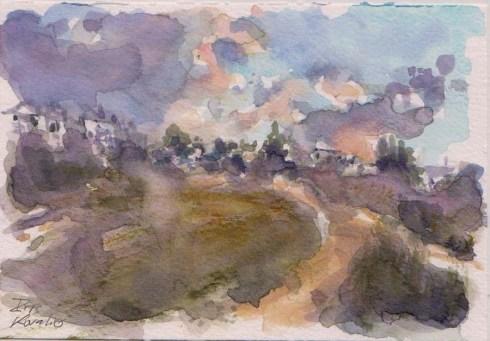 איריס קובליו, מרחב מוגן 12, אקוורל, אוגוסט 2014