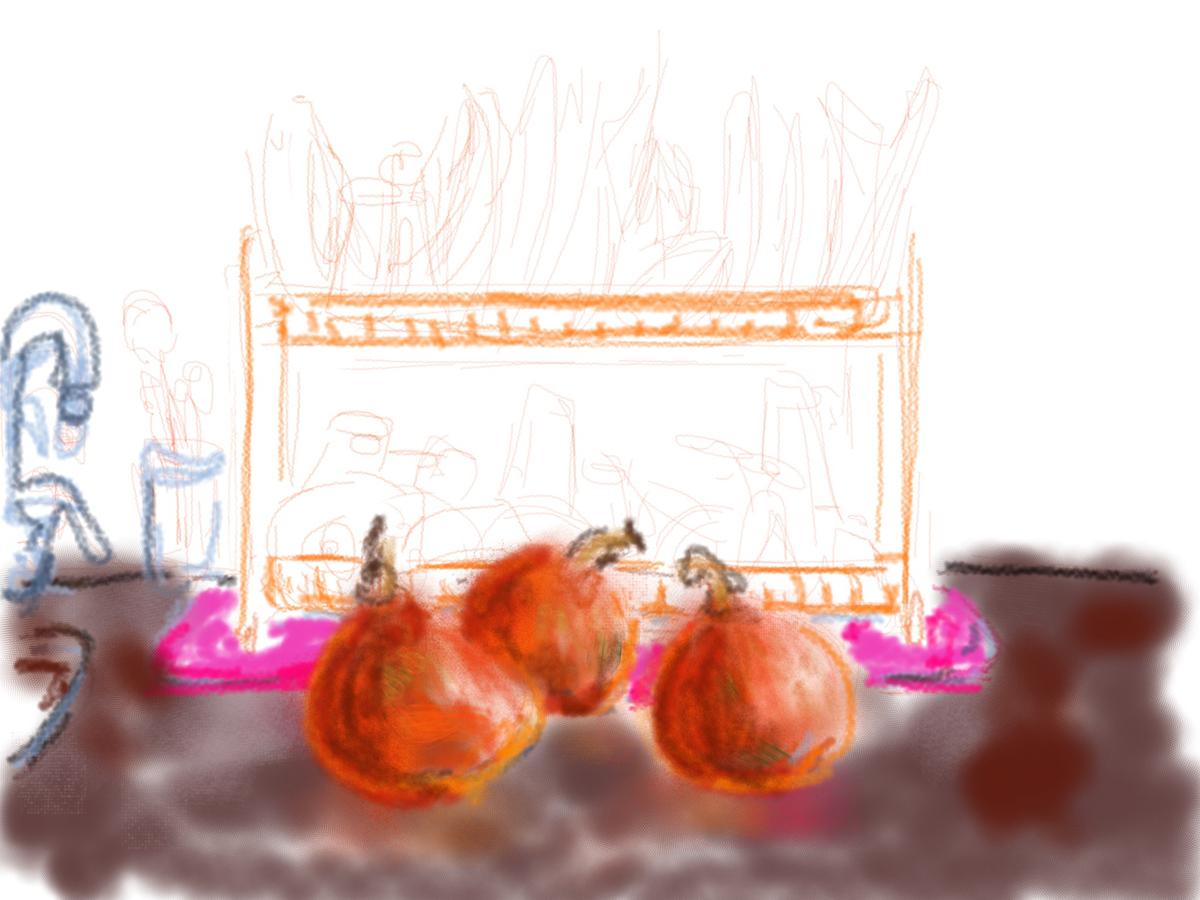 איריס קובליו, במטבח 2, ציור אייפד