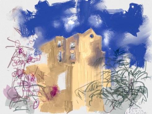 איריס קובליו, מרחב הגנה 10, ציור אייפד, יולי 2014