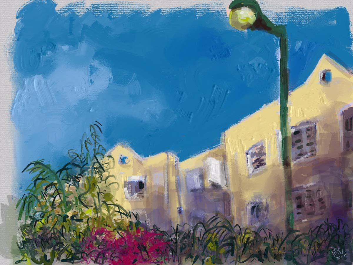 איריס קובליו, מרחב הגנה 7, ציור אייפד, יולי 2014
