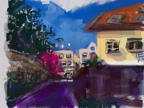 איריס קובליו, מרחב מוגן 1, ציור אייפד, יולי 2014
