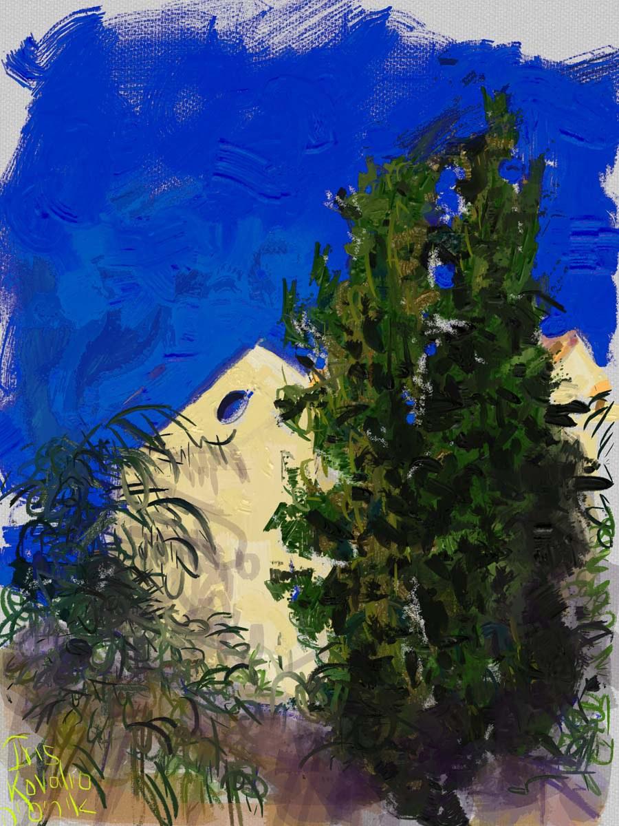 איריס קובליו, מרחב הגנה 6, ציור אייפד, יולי 2014
