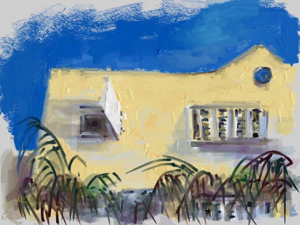 איריס קובליו, מרחב הגנה 4, ציור אייפד, יולי 2014