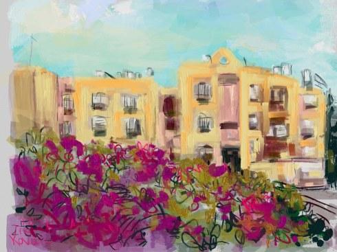 איריס קובליו, מרחב מוגן 2, ציור אייפד, יולי 2014