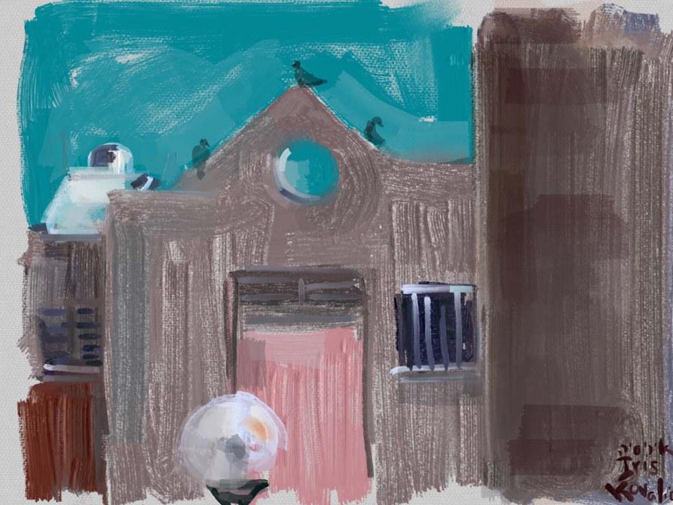 איריס קובליו, מרחב מוגן 3, ציור אייפד, יולי 2014