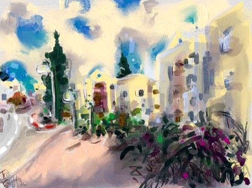 איריס קובליו, מרחב הגנה 5, ציור אייפד, יולי 2014