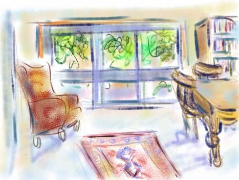 איריס קובליו, הבית שלי 1, ציור אייפד