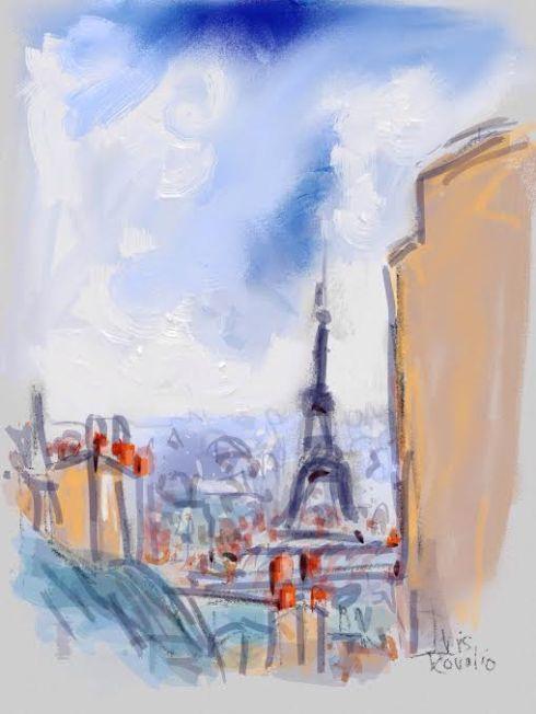 איריס קובליו, פריז 1, ציור אייפד