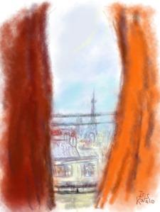 איריס קובליו, פריז 2, ציור אייפד