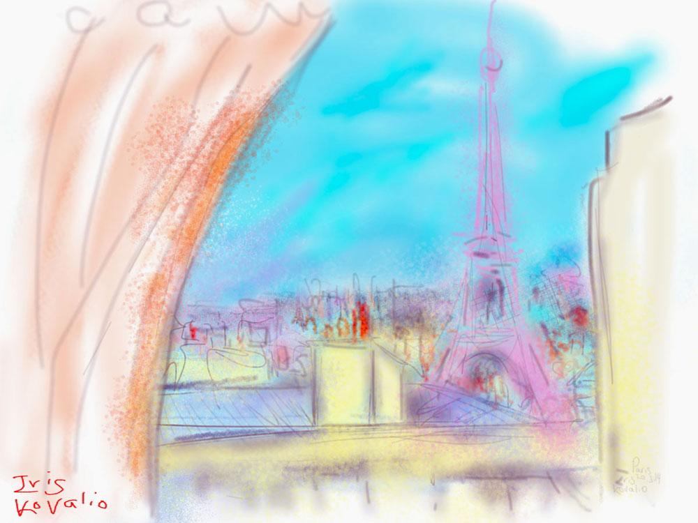 איריס קובליו, פריז 3, ציור אייפד