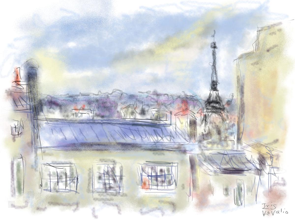איריס קובליו, פריז 4, ציור אייפד, מרץ 2014