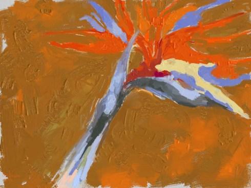 איריס קובליו, ציפור גן עדן, ציור דיגיטאלי, אוגוסט 2014