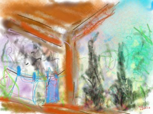איריס קובליו, ציפורי 2, ציור אייפד, פברואר 2014