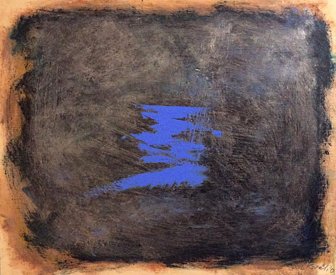 איריס איריסיה קובליו, אקריליק ומטלית על עץ