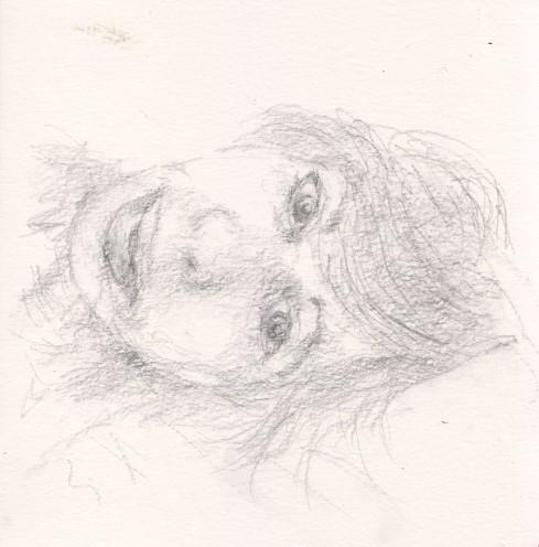 איריס איריסיה קובליו, רישום עיפרון, פברואר 2015