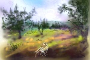 קושקה, ציור אייפד 2013