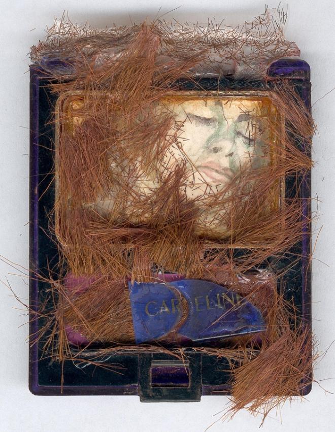 איריס קובליו, סומק קרליין, טכניקה מעורבת עם צבעי מים, 1989