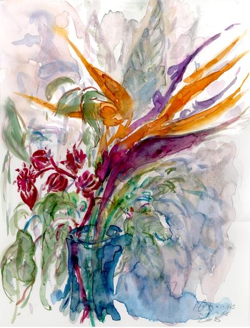 ציפור גן עדן והיביסקוס עב.jpg