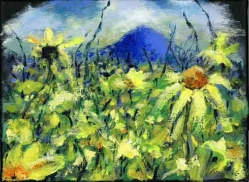 Mount Tabor- תבור, אקריליק 2020. Iris Kovalio